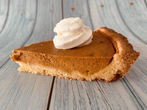 Una fetta di pumpkin pie