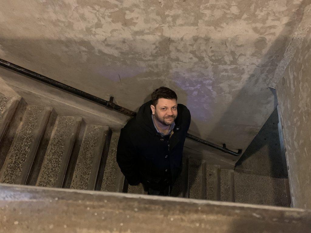 Le scale del mattatoio, destinate solo ai lavoratori